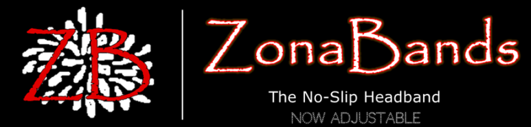 ZonaBands -  The No-Slip Adjustable Headband!